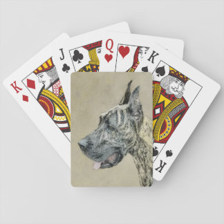 Great Dane (Brindle) Playing Cards