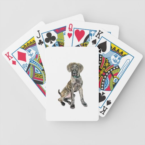 Great Dane Brindle Puppy Playing Cards