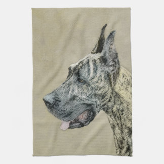 Great Dane (Brindle) Tea Towel