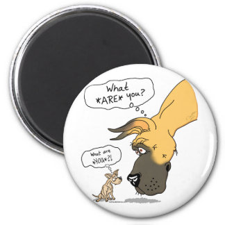 Great Dane & Chihuahua Fawn Magnet