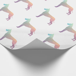 Great Dane Colorful Geometric Pattern Silhouette