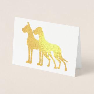 Great Dane Couple Foil Card