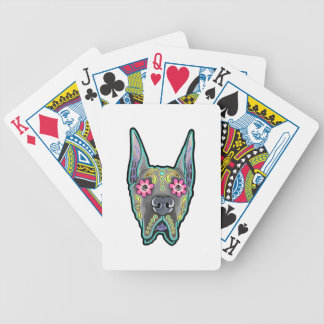 Great dane - cropped ear edition - day of th bicycle playing cards