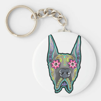 Great dane - cropped ear edition - day of th key ring