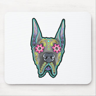 Great dane - cropped ear edition - day of th mouse pad