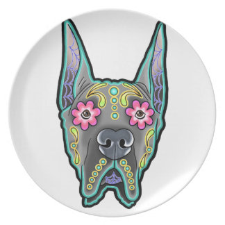 Great dane - cropped ear edition - day of th plate