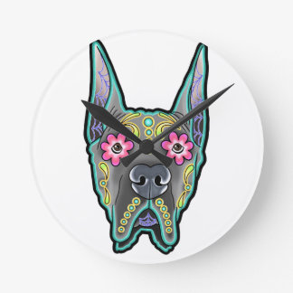 Great dane - cropped ear edition - day of th wall clock