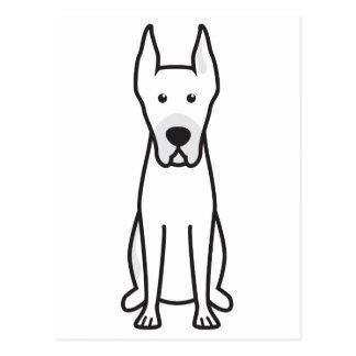 Great Dane Dog Cartoon Postcard