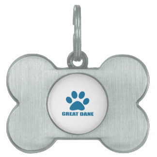 GREAT DANE DOG DESIGNS PET ID TAG
