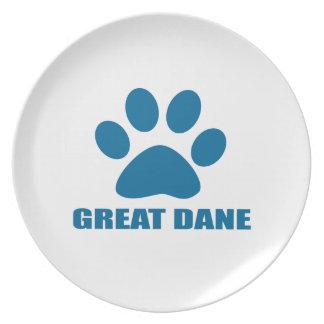 GREAT DANE DOG DESIGNS PLATE