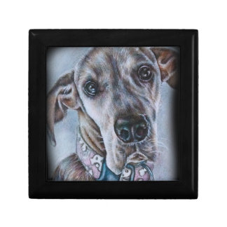 Great Dane Dog Drawing Design Small Square Gift Box