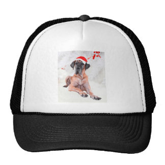 Great Dane Dog Hat Merry Christmas