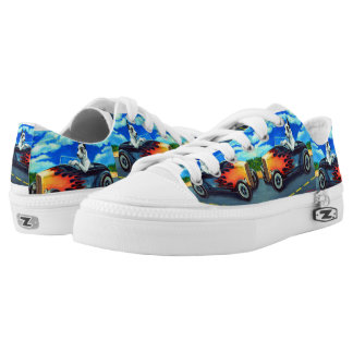 Great Dane Dog Hot Rod harle Shoes Printed Shoes