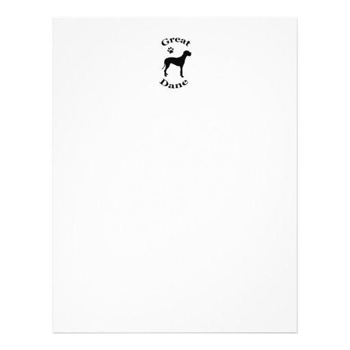 great dane dog pwprint silhouette flyers / flyer