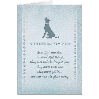 Great Dane Dog Sympathy Beautiful Memories Card