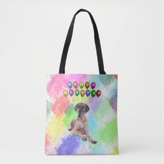 Great Dane Dog Wishing Happy New Year Tote Bag