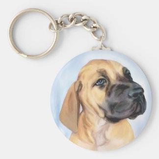 Great Dane Fawn Puppy Key Chains