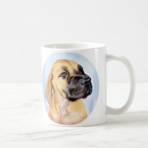 Great Dane Fawn Puppy Mugs