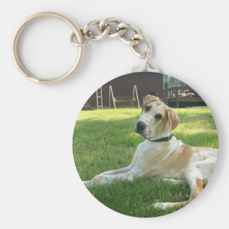 great dane Fawnequin Basic Round Button Key Ring