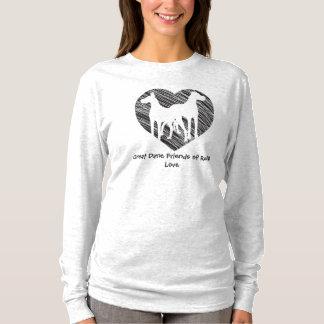 Great Dane Friends scribble heart logo T-Shirt
