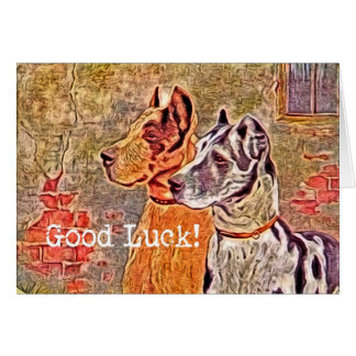 Great Dane, Good Luck! Card