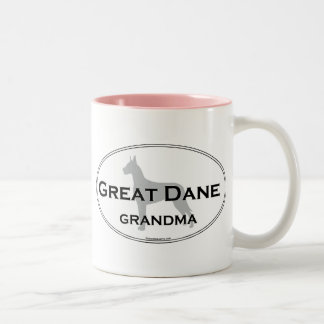 Great Dane Grandma Two-Tone Coffee Mug