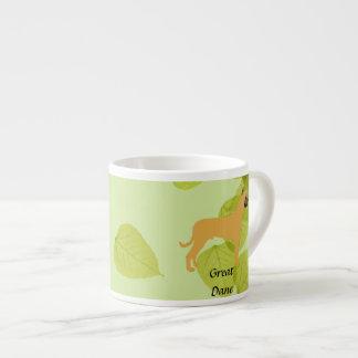 Great Dane - Green Leaf Design Espresso Mug
