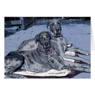 "Great Dane Greeting Card  ""Hero & Hope"""