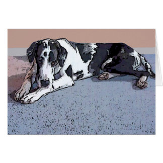 Great Dane Gunner Greeting Cards