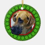 Great Dane Happy Howliday Christmas Tree Ornaments