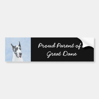 Great Dane (Harlequin) Bumper Sticker
