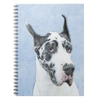 Great Dane (Harlequin) Notebook
