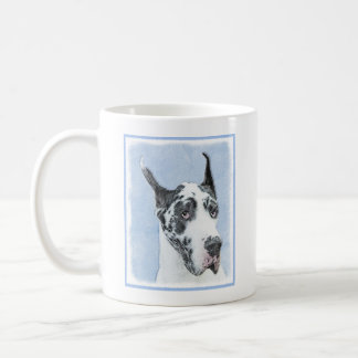 Great Dane (Harlequin) Painting - Original Dog Art Coffee Mug