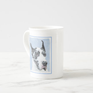 Great Dane (Harlequin) Painting - Original Dog Art Tea Cup