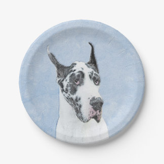 Great Dane (Harlequin) Paper Plate