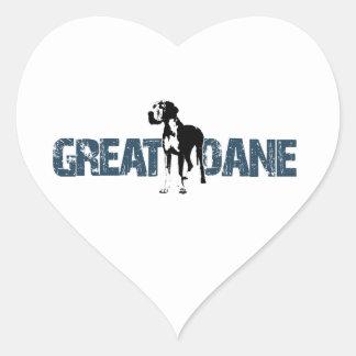 Great Dane Heart Sticker