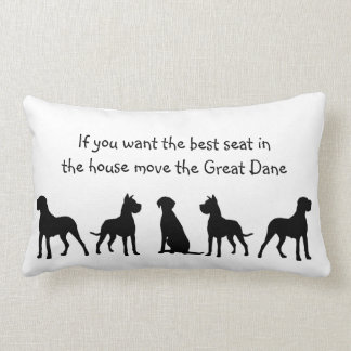 Great Dane Humour Best Seat in house Dog Pet Cushions