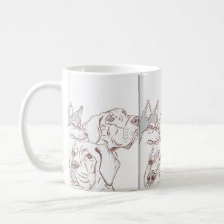 Great Dane Husky Baby Mastiff Mugg Coffee Mug