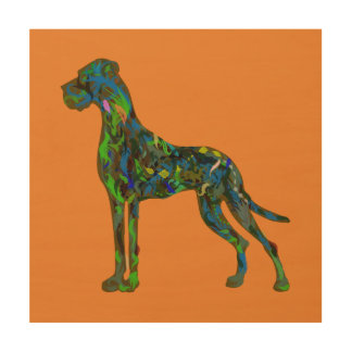 Great Dane in abstraction Wood Wall Decor