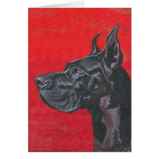 Great Dane in acrylic Card