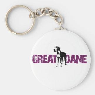 Great Dane Key Ring