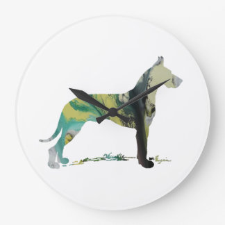 Great Dane Large Clock