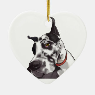 Great Dane Love Ceramic Heart Decoration