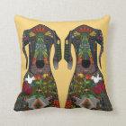 Great Dane love yellow Cushion