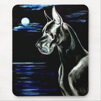 Great Dane Mouse Pad - Dark Moon