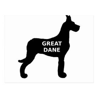 Great Dane name silo Postcard