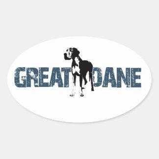 Great Dane Oval Sticker