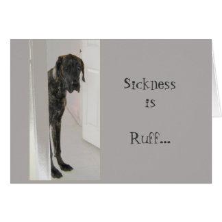 Great Dane Pet Dog Sickness is Ruff Card