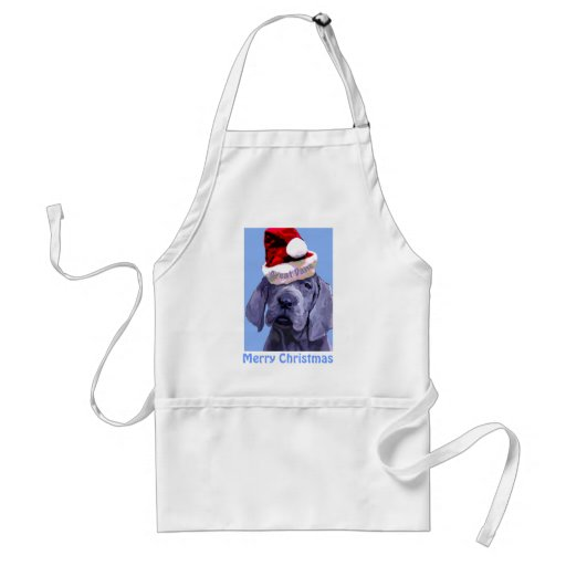 Great Dane Puppy Christmas Apron