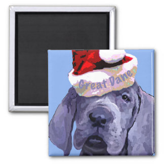 Great Dane Puppy Christmas Magnet